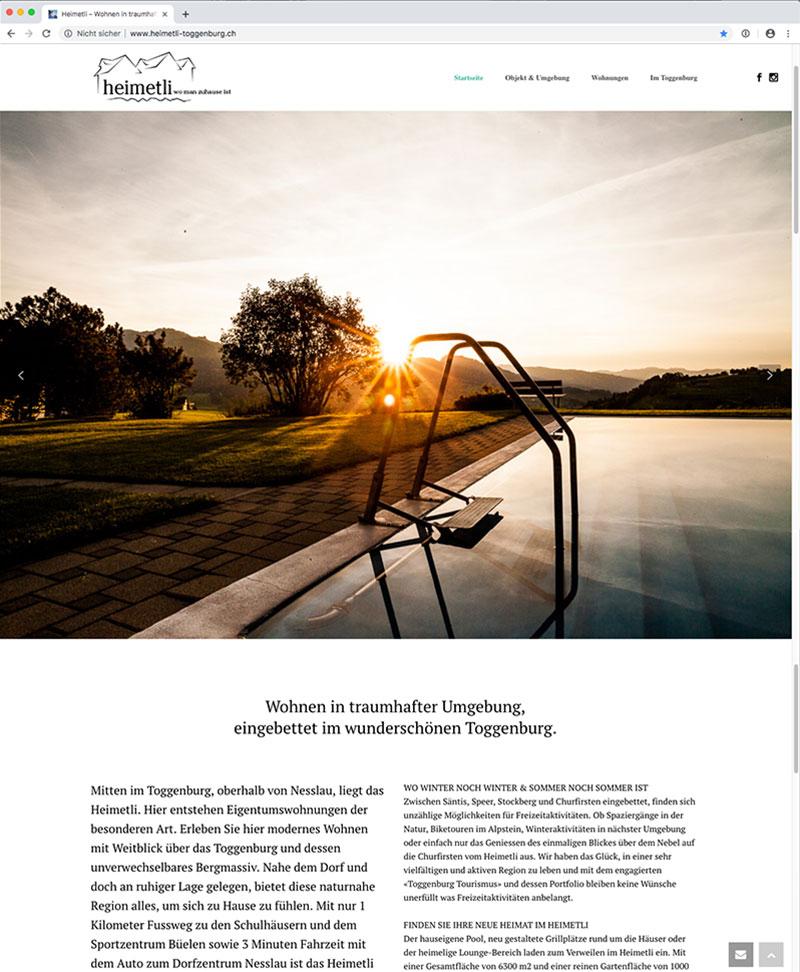 Webseite Heimetli