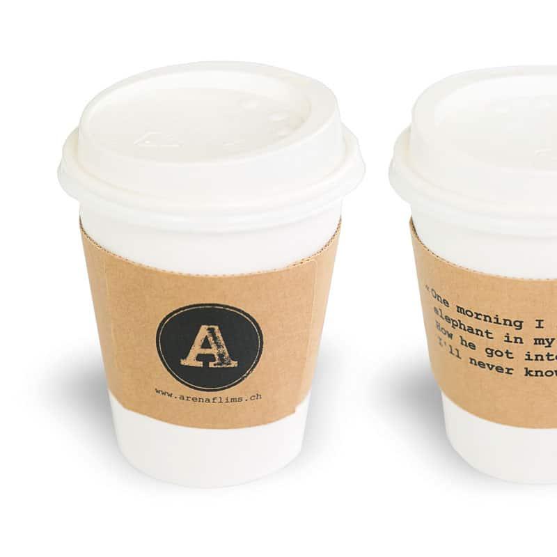 Kaffebecher mit Arena Flims Logo