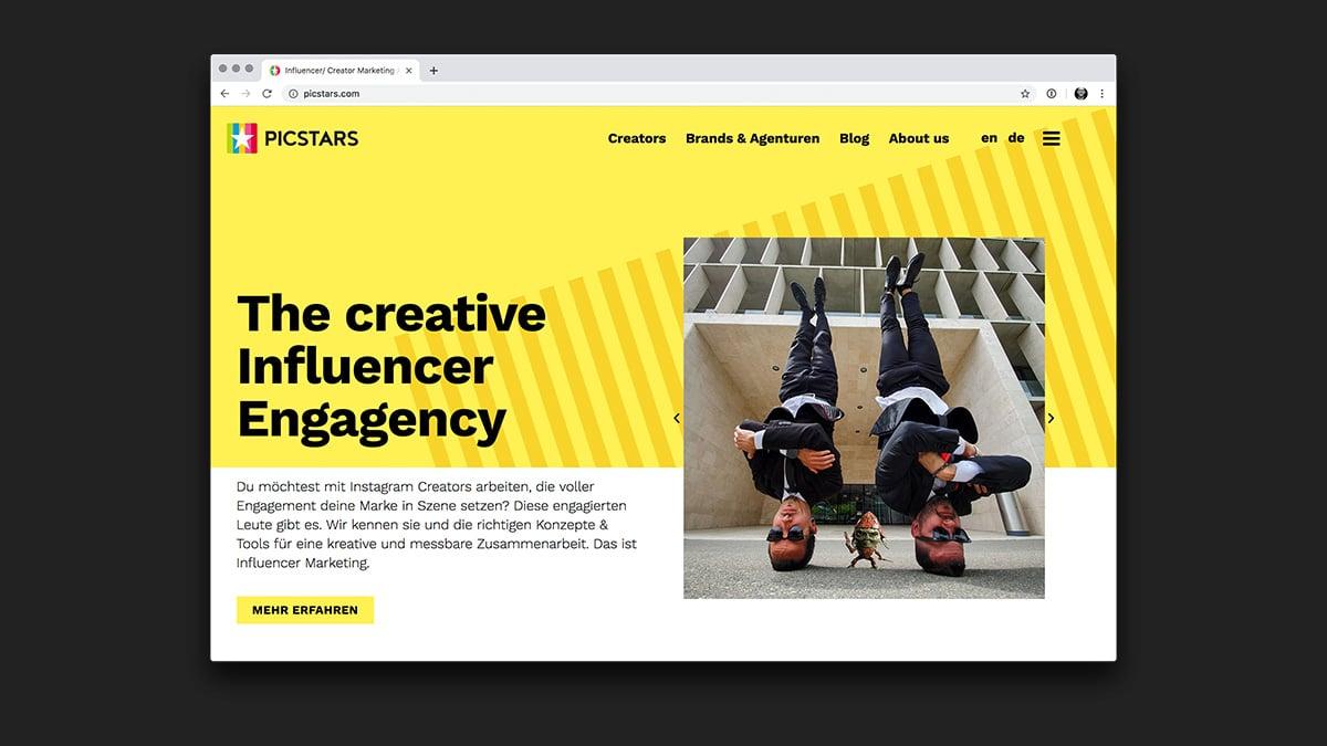 Webseite Picstars