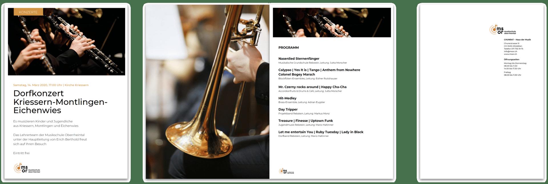 Musikschule Oberrheintal Konzert Programm