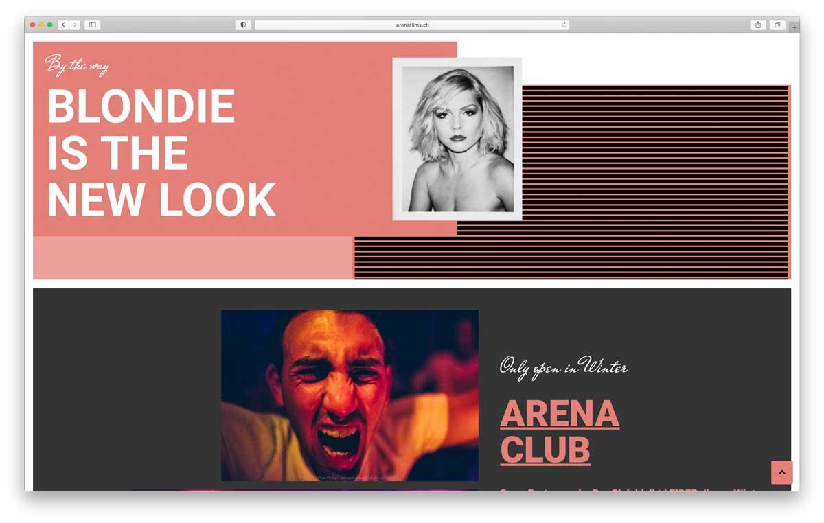 Webseite Arena Flims