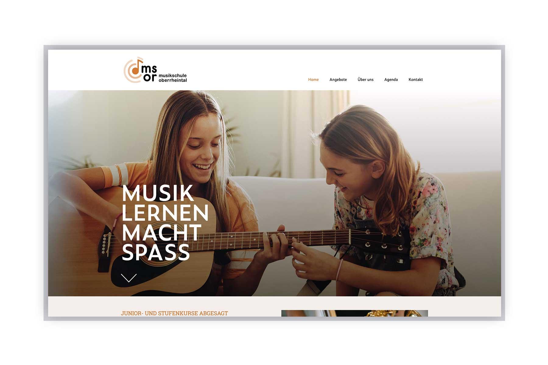 Webseite Musikschule Oberrheintal
