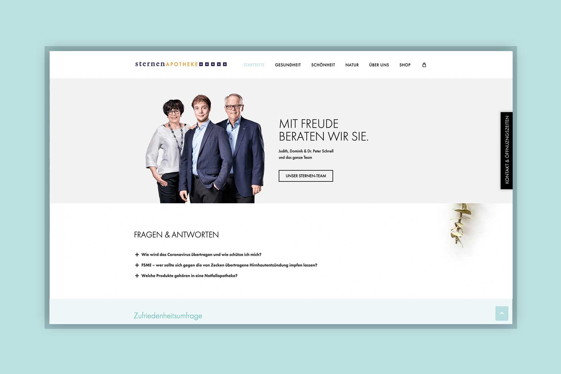 Webseite Sternenapotheke