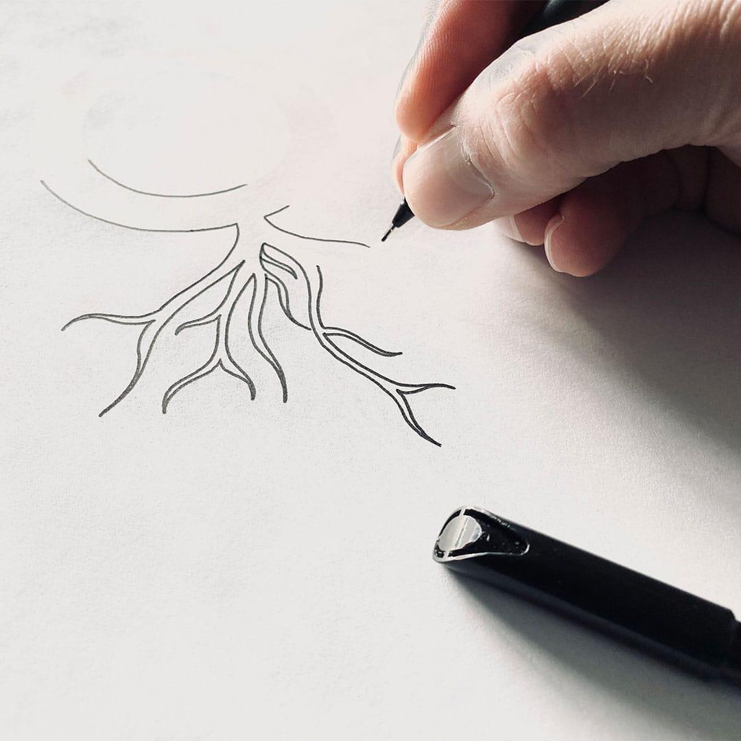 Skizze für neues Logo Morgarot