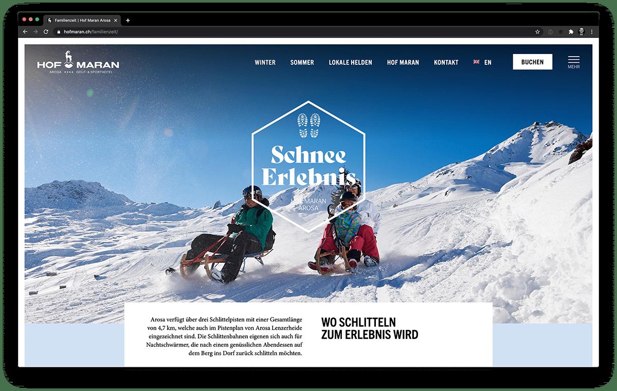 Webseite Hof Maran