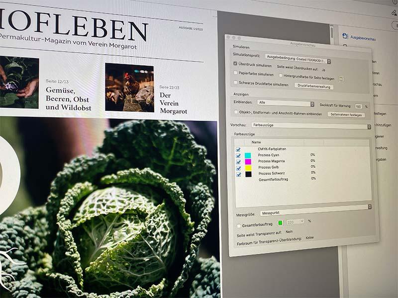 Druckdaten für Magazin Hofleben