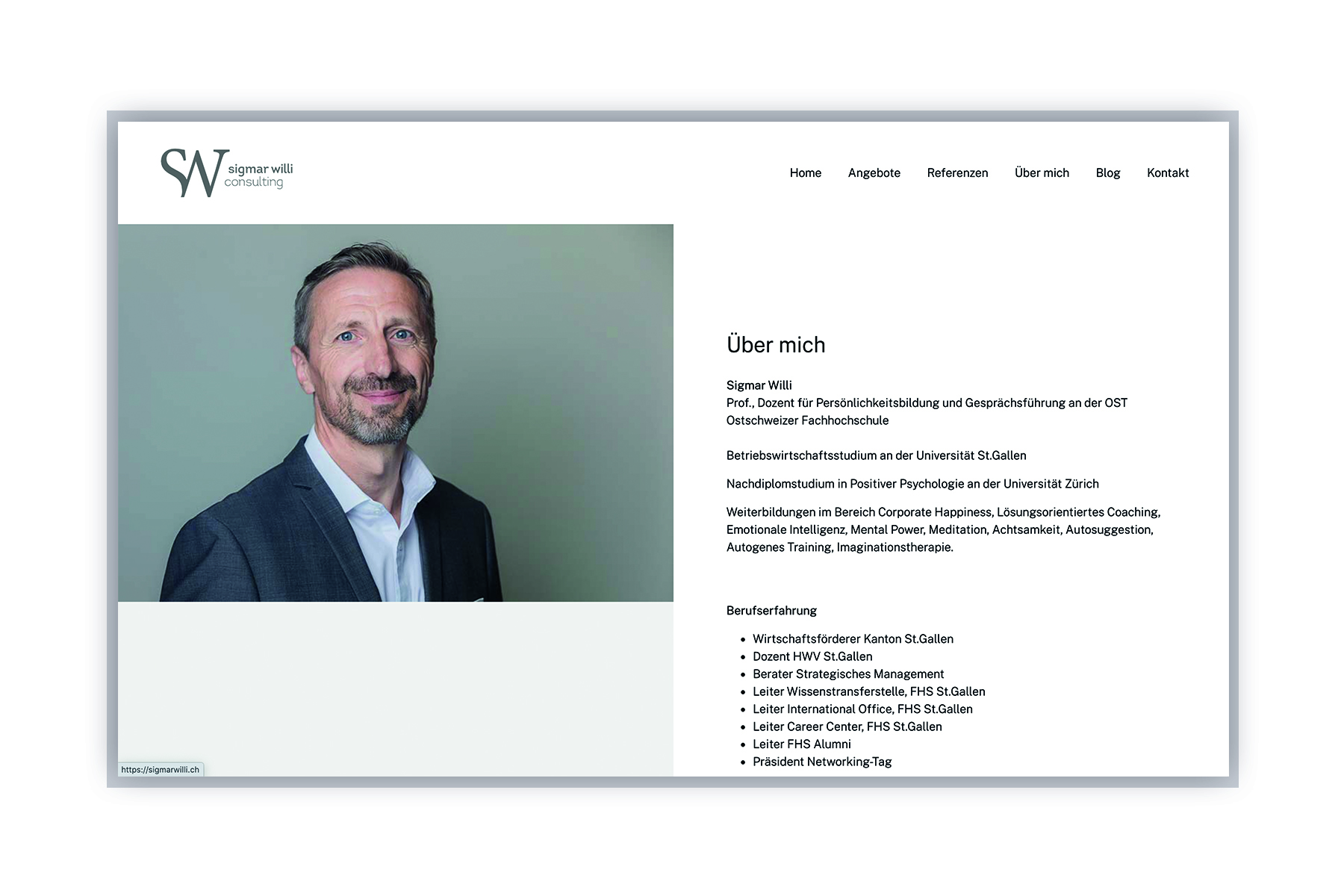 Webseite Sigmar Willi Consulting