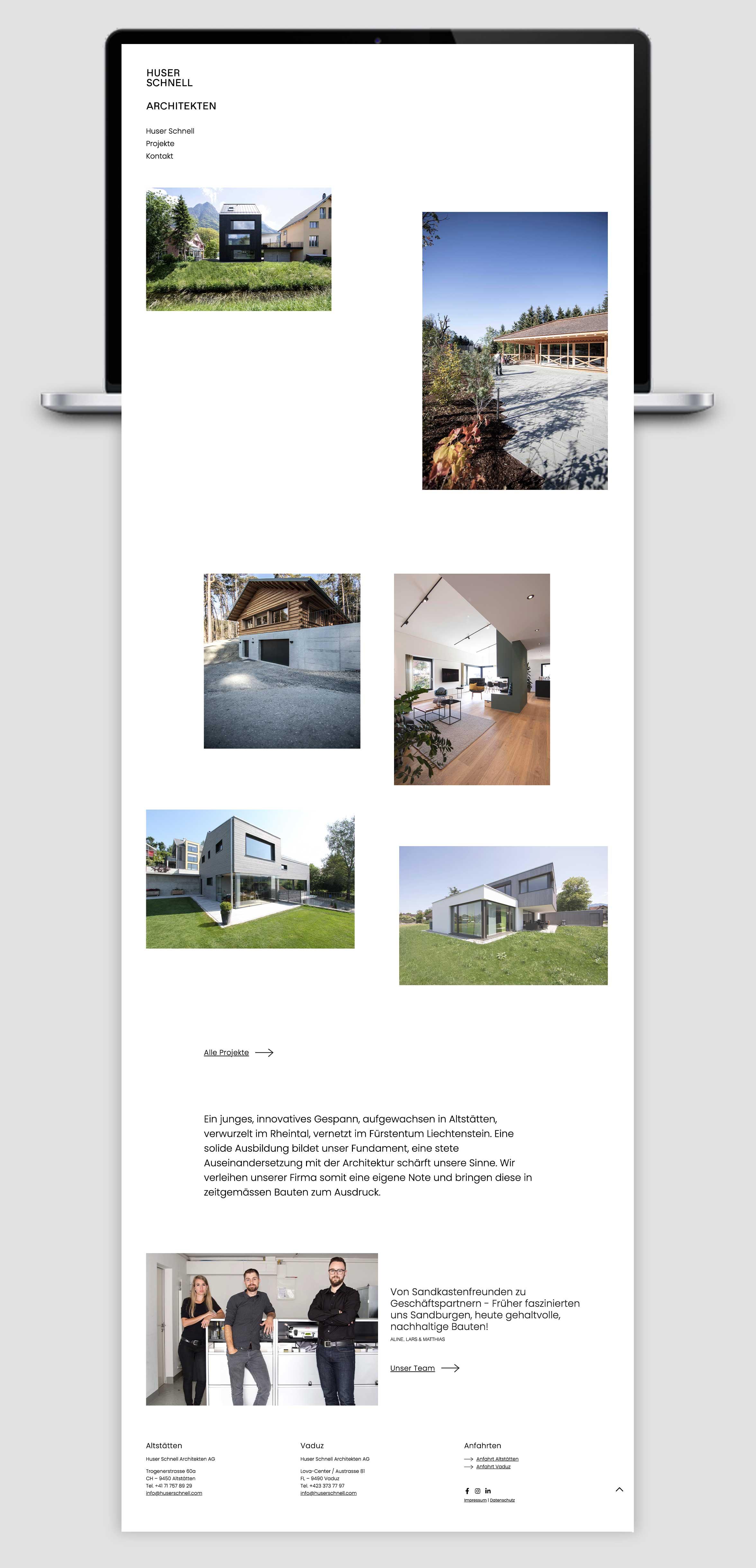 Huser Schnell Webseite