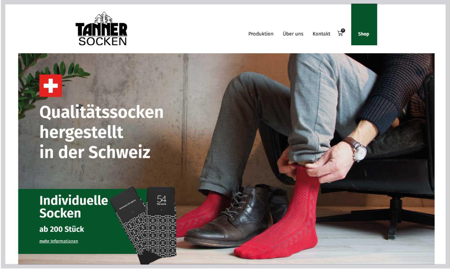 Tannersocken Webseite neu