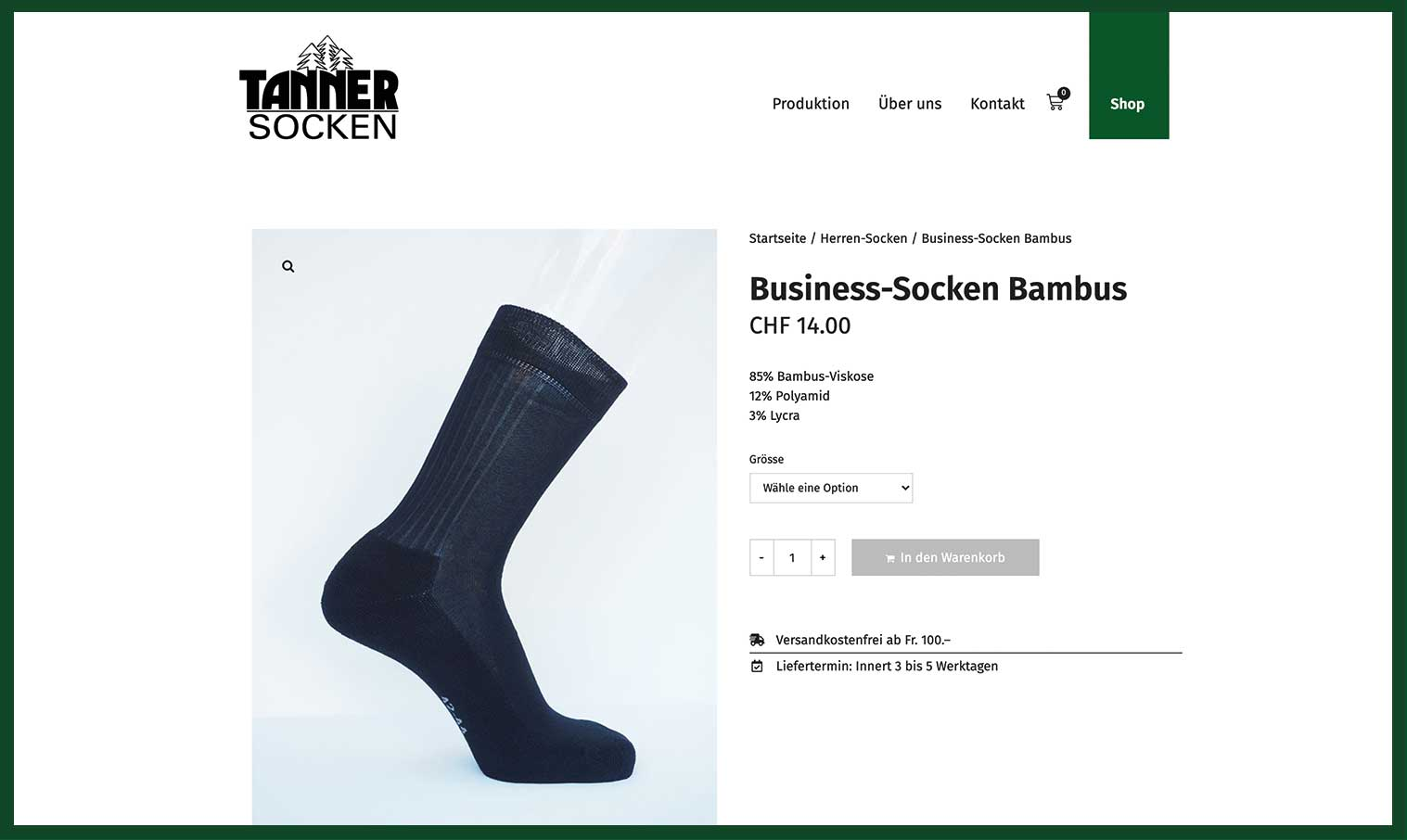 Tannersocken Webshop