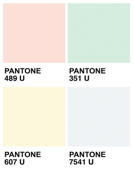 Trendfarbe Pastell