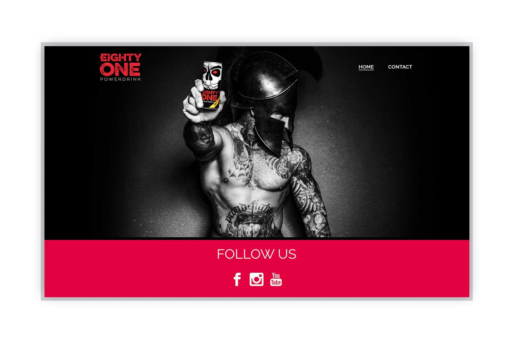 Eight One Webseite