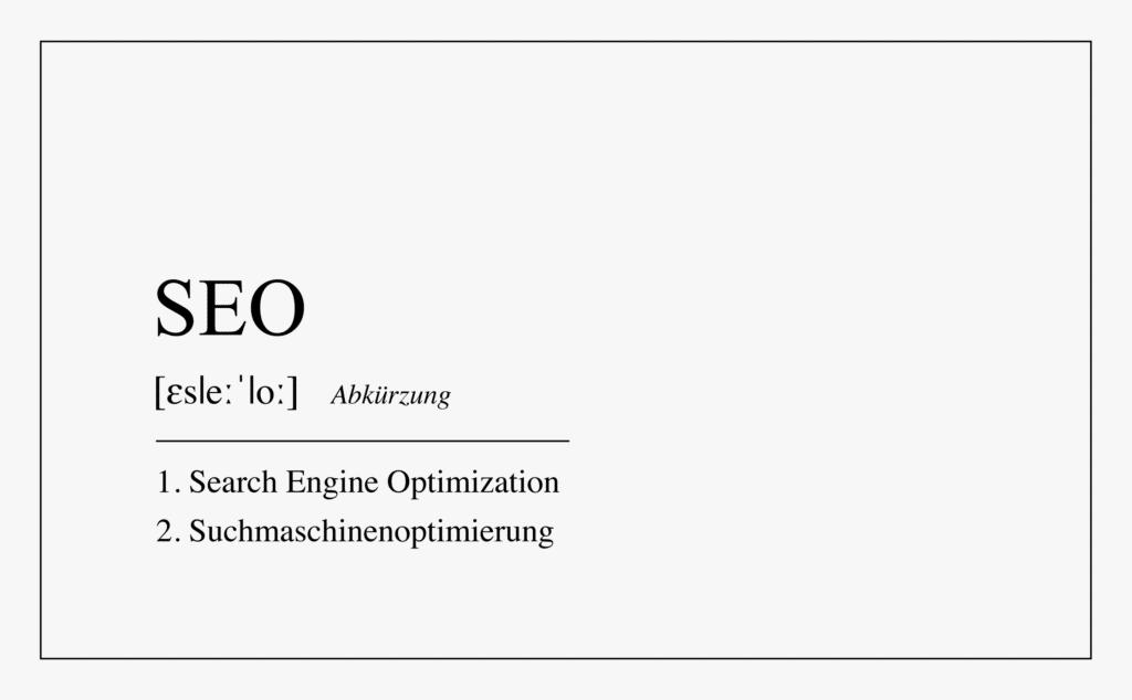 Definition SEO Titelbild